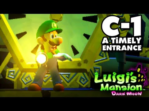 Luigi's Mansion Dark Moon - Old Clockworks - C-1 A Timely Entrance (Nintendo 3DS Walkthrough)