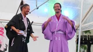 熊本城おもてなし武将隊 演目「五眼之蛟」その1 (その2https://www.y...