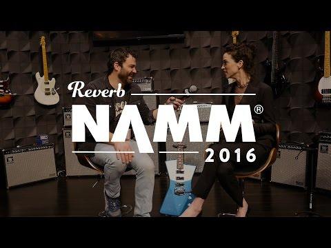 Annie Clark talks about the Music Man St. Vincent Signature at the NAMM Show 2016