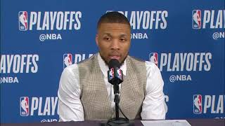 Damian Lillard Postgame Interview | Thunder vs Trail Blazers Game 5