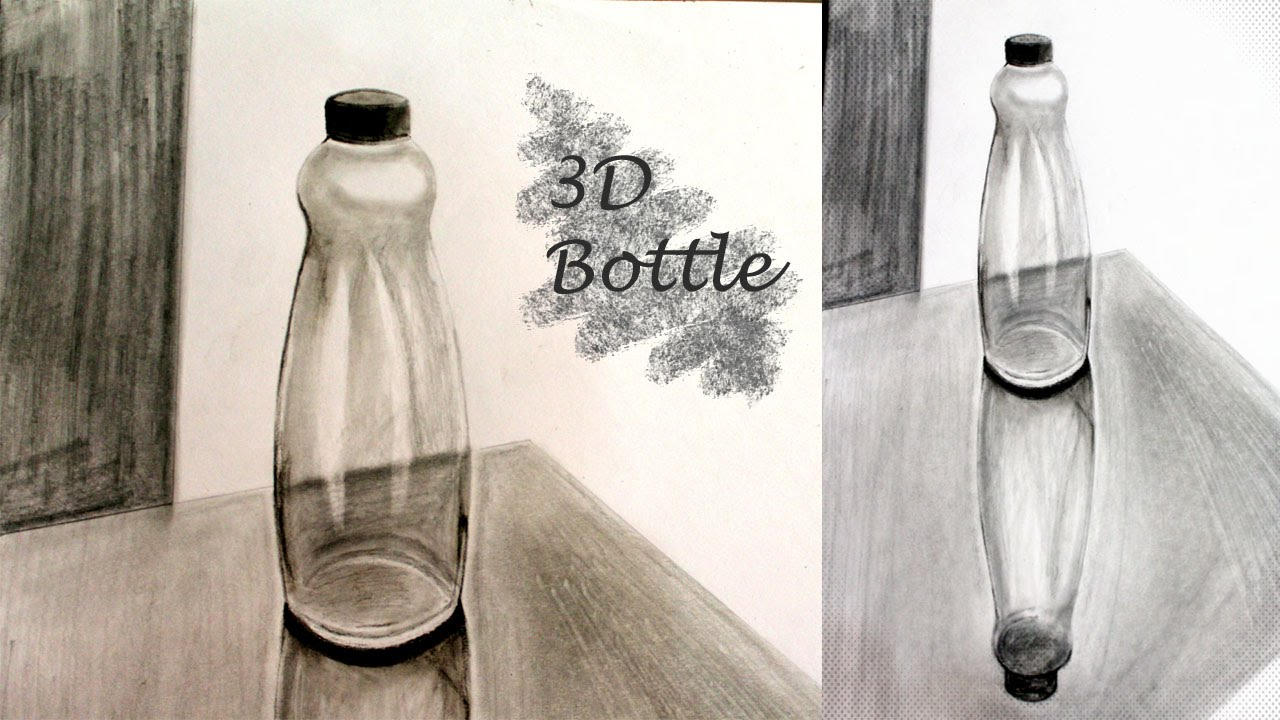 It's just an image of Agile Drawing Of Bottle