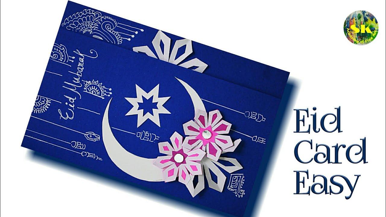 eid card ideas  eid mubarak card easy  eid card 2020