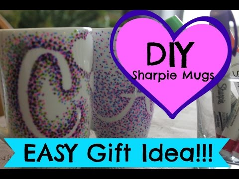 DIY Sharpie Mugs | EASY Gift Idea