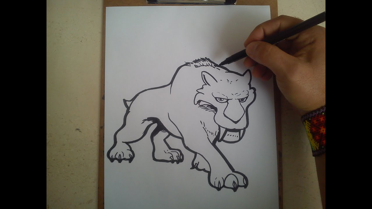 COMO DIBUJAR A DIEGO DE LA ERA DEL HIELO 5 / how to draw a diego ace ...