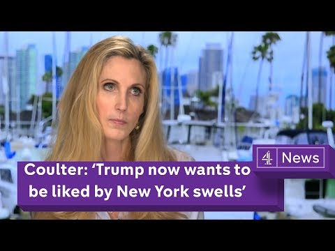 Ann Coulter Interview: 'Trump now wants to be liked by New York swells'