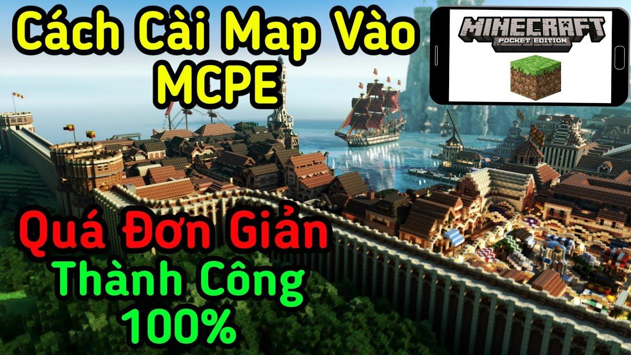 Minecraft PE - Cách Cài Map Vào MCPE Siêu Đơn Giản Phiên Bản Mới - LiTiGaming