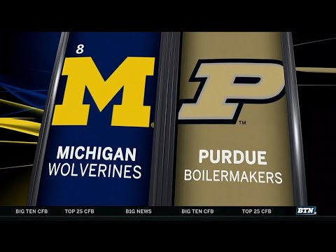 Michigan at Purdue - Football Highlights