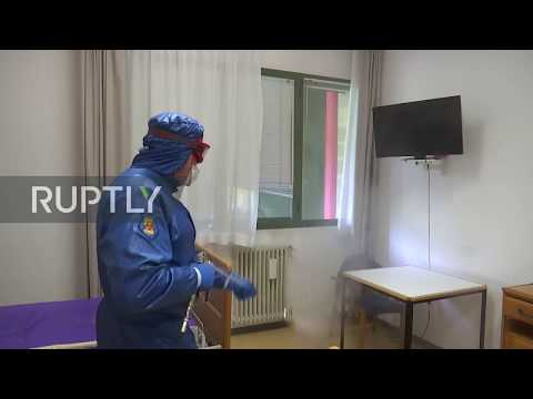 Italy: Russian specialists disinfect nursing home in Bergamo