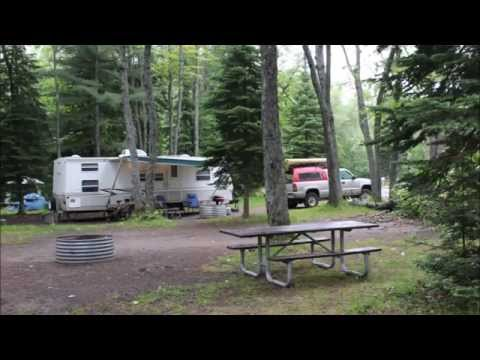 Camping At lower tahquamenon falls state camp ground