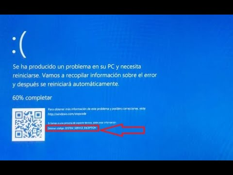 SOLUCIONAR ERROR SYSTEM SERVICE EXCEPTION (PANTALLA AZUL) En Windows 10 FÁCIL Y RÁPIDO 🔨