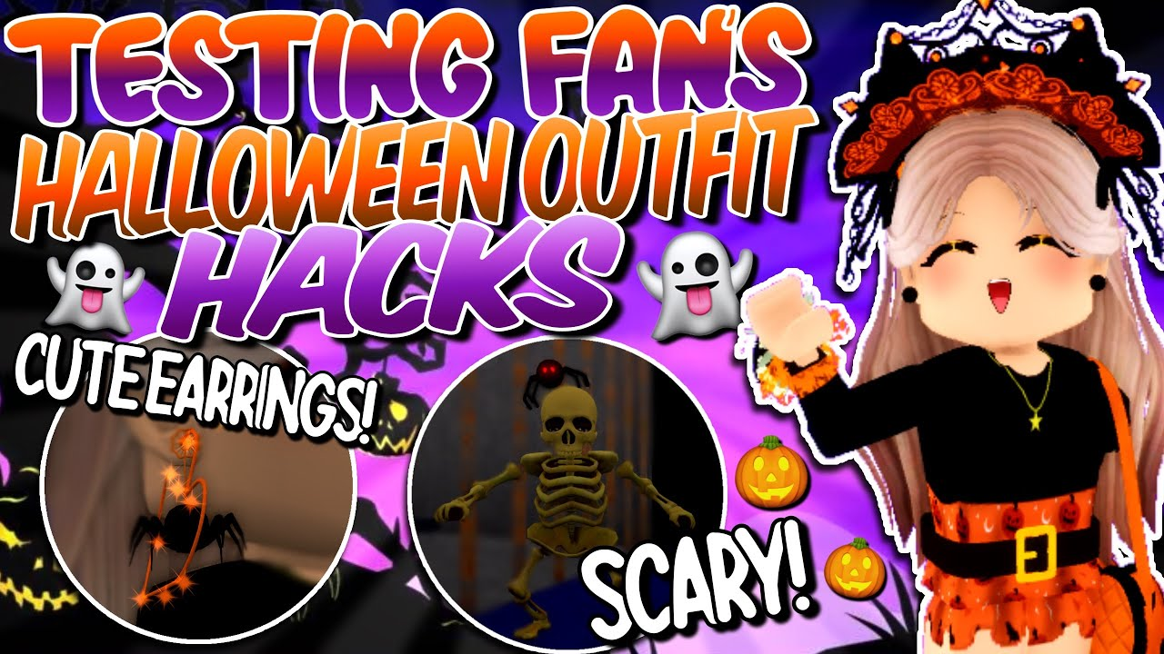 TESTING FANS' ADORABLE HALLOWEEN OUTFIT HACKS! *PART 2* ROBLOX Royale High Outfits Hacks