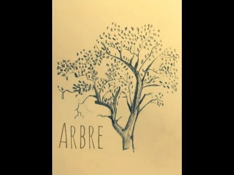 comment dessiner un arbre youtube. Black Bedroom Furniture Sets. Home Design Ideas