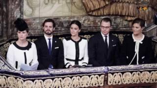 Prinsessan Madeleine utan Chris O'Neill vid riksmötet