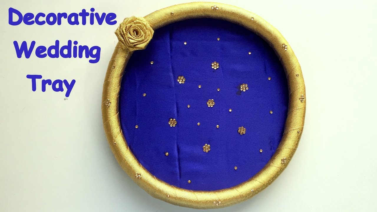 DIY - How to make decorative wedding tray/plate? || Wedding decoration ideas. - YouTube : decorative wedding plates - pezcame.com