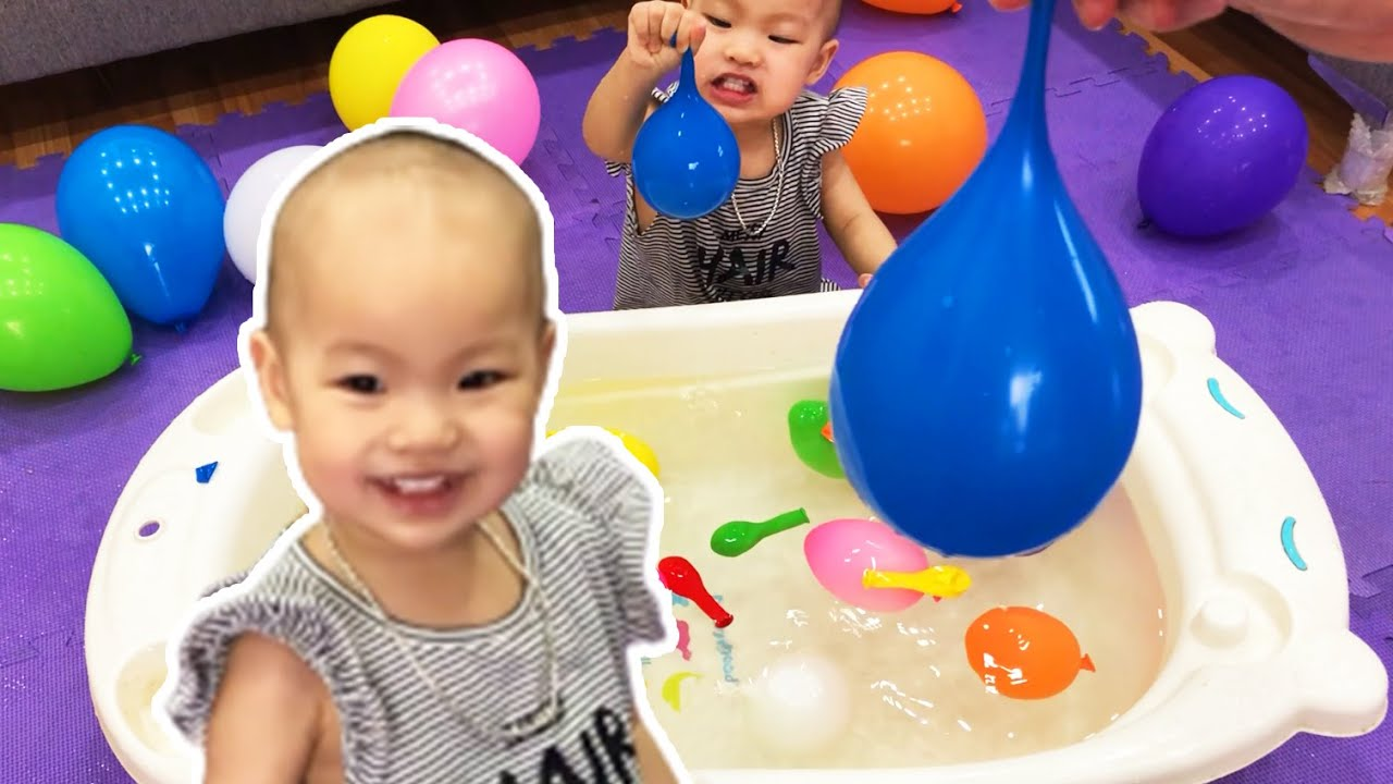 Discover World Water Balloon at Home ❤️ The Bath Song ❤️ Nursery Rhymes for Kids