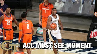 Georgia Tech's Moses Wright Starts The Game With 2 Explosive Dunks | ACC Must See Moment