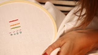 Five Most Common Embroidery Stitches || Kin Diy
