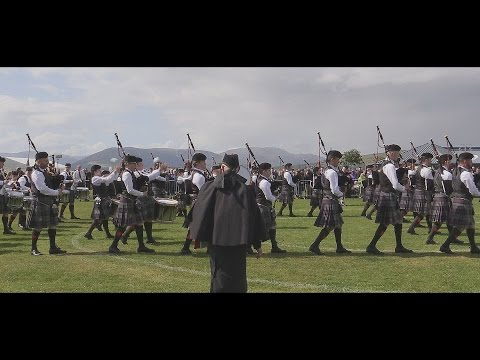 Scottish Power Pipe Band at the Gourock Games