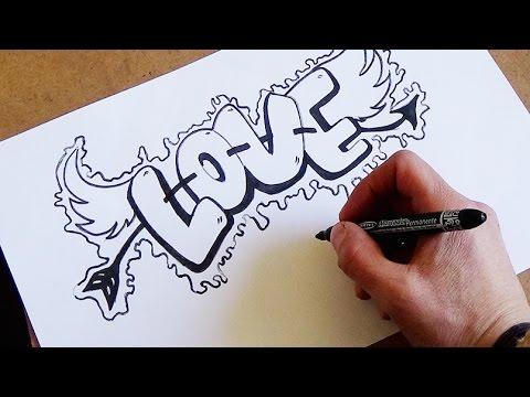 Come Disegnare Love Passo Dopo Passo Youtube