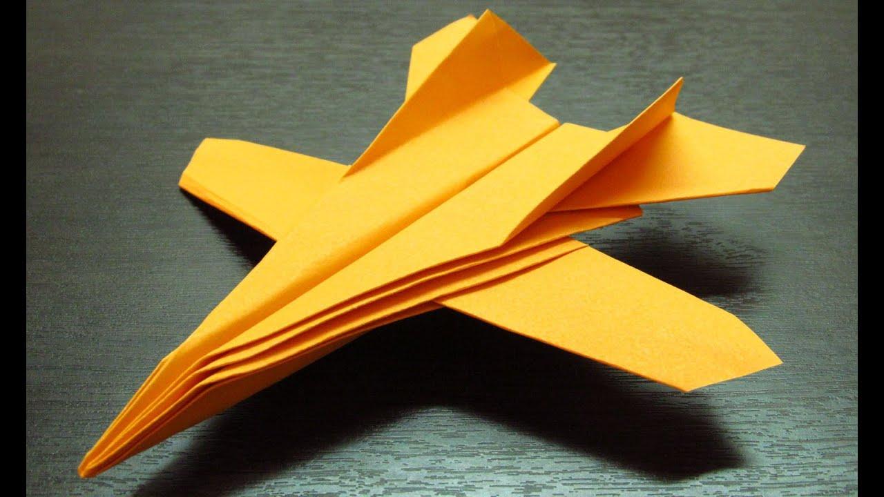 Como hacer un avion de papel f 14 paso a paso en espa ol - Como hacer cosas de papel paso a paso faciles ...