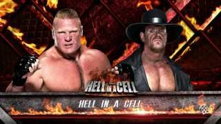 WWE 2K16 (PS4) - Brock Lesnar vs The Undertaker Hell In A Cell Match Gameplay