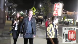 Cindy Crawford, Rande Gerber and Kaia Gerber outside LA Live in Los Angeles