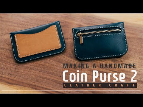 Leather Coin purse 2 / 동전 카드지갑 2 / Leather craft PDF / 가죽공예 패턴 / ASMR