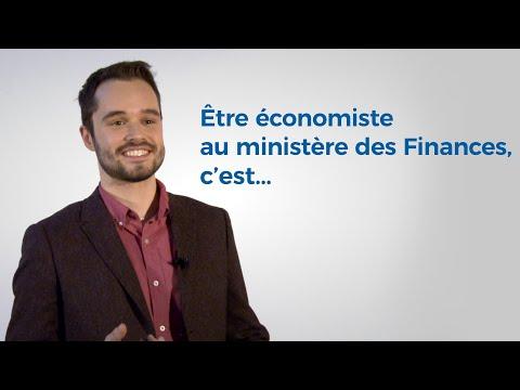 Pourquoi être économiste au ministère des Finances?