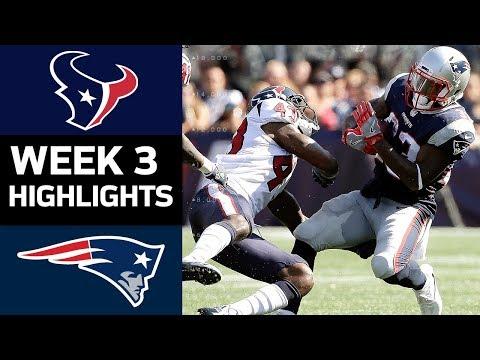 Texans vs. Patriots   NFL Week 3 Game Highlights