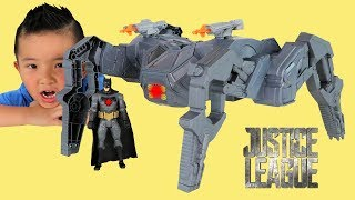 Justice League Super Heroes Batman's Knightcrawler Vehicle Toy Unboxing With Ckn Toys