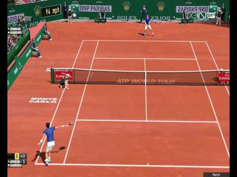 NOVAK DJOKOVIC VS PABLO CARRENO BUSTA   MASTER 1000 Monte Carlo 2017 TENNIS ELBOW 2013