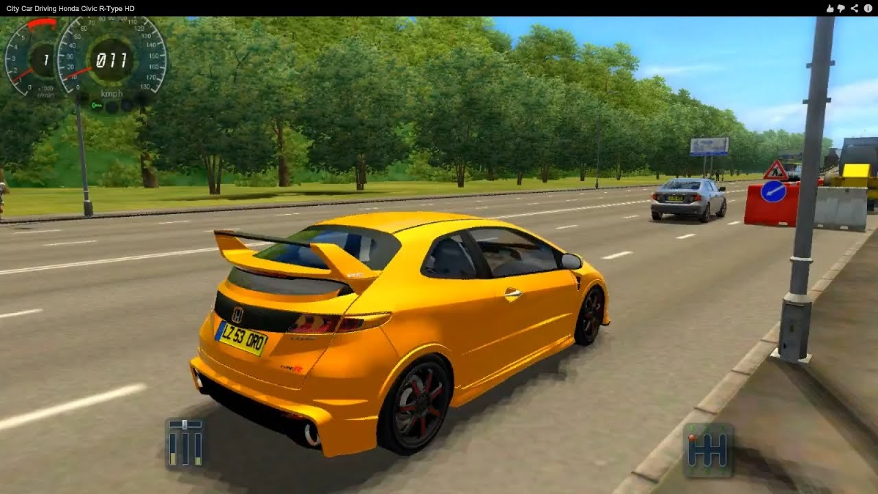 City Car Driving Honda Civic R Type Hd Youtube