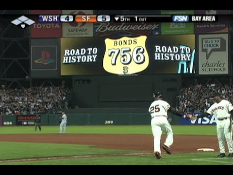 Bonds breaks Aaron's record with No. 756