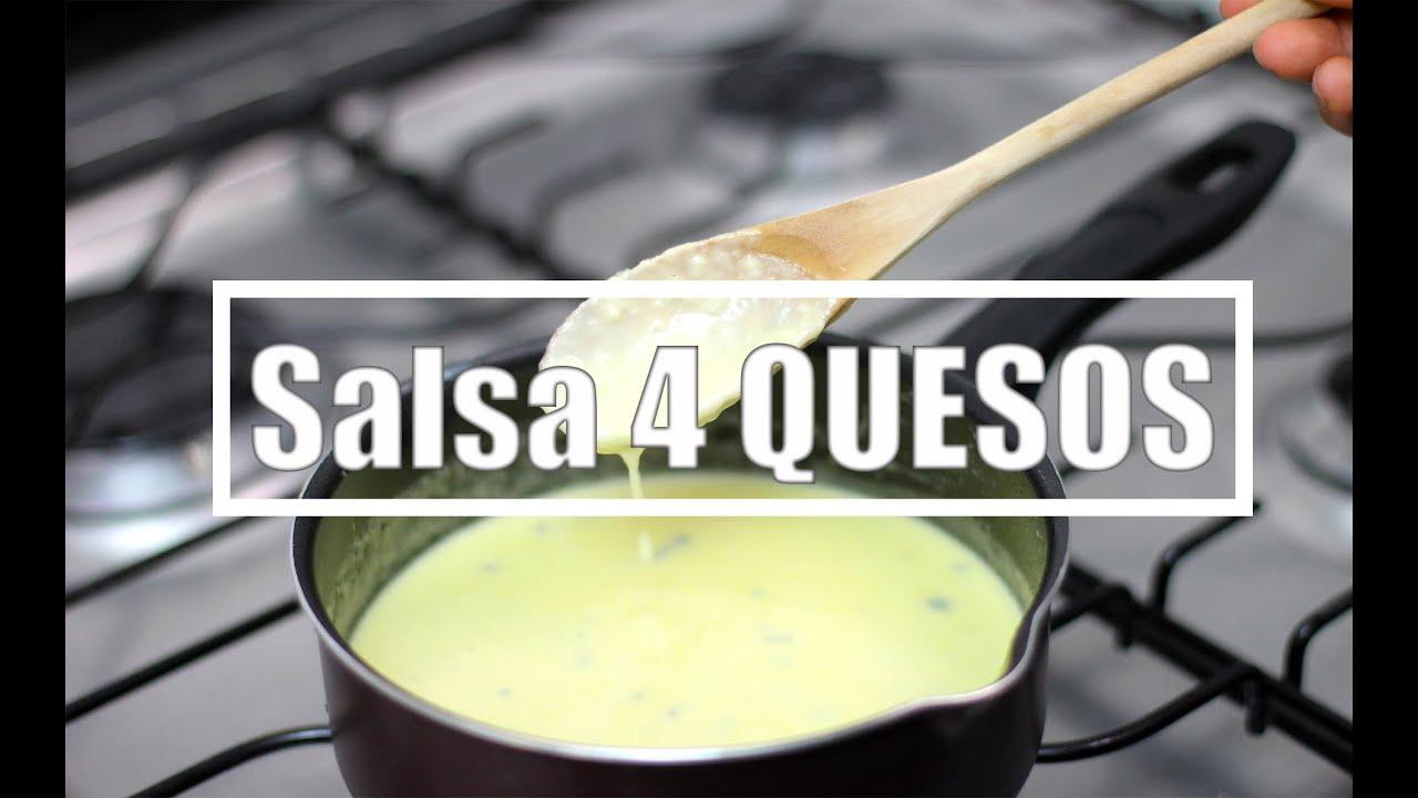 Salsa de CUATRO QUESOS Original y la versin Fcil con