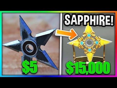 HAND SPINNER BOIS 5$ VS HAND SPINNER SAPHIRE 15,000$ - MINECRAFT