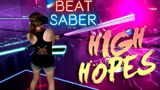 Beat Saber || High Hopes - Panic! At The Disco (Expert+) || Mixed Reality Video