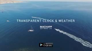 Transparent clock & weather 2018