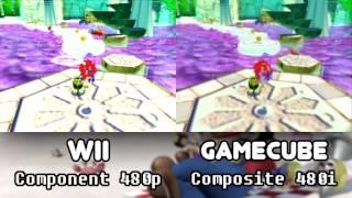 Wii Component 480p vs Gamecube Composite 480i