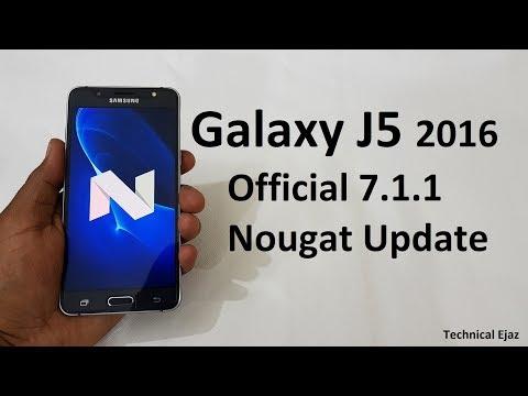Samsung Galaxy J5 2016 Official Nougat 7.1.1 Software Update