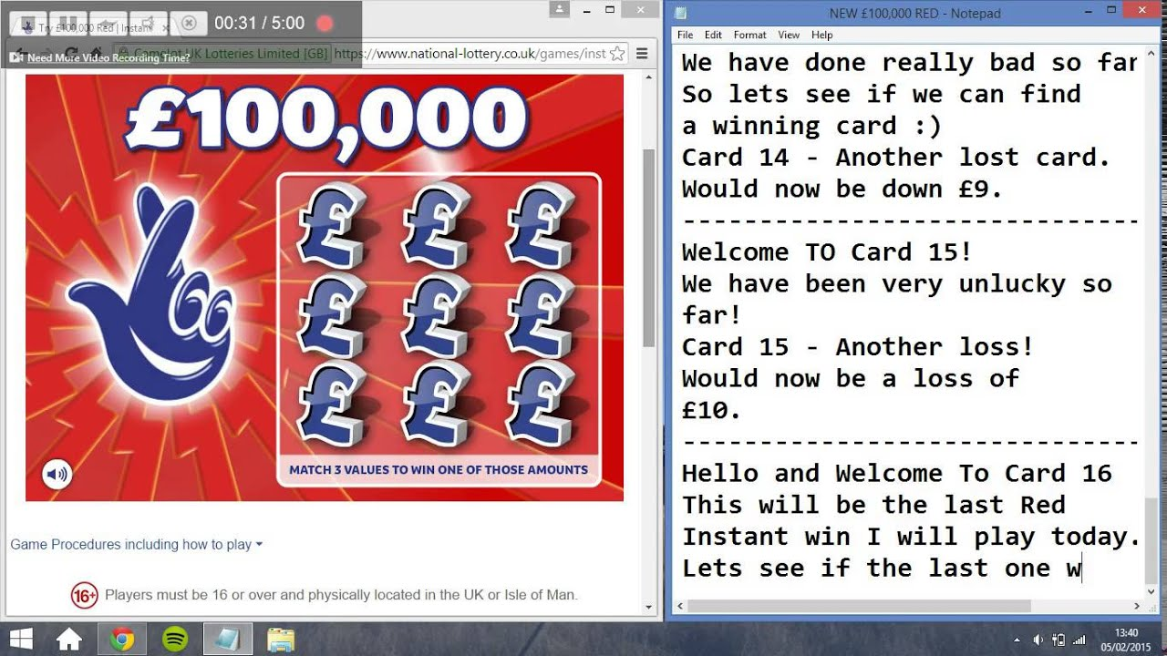 National lottery instant wins cheats for red