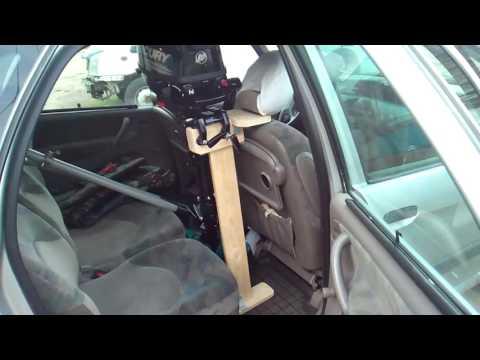 Подставка для лодочного мотора в машину и гараж (2 в 1)