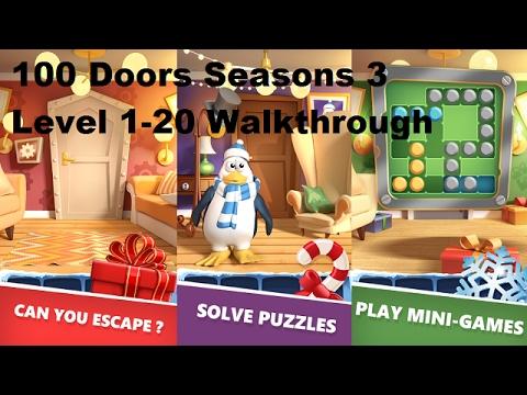 100 Doors Seasons 3 Level 1-20 Walkthrough