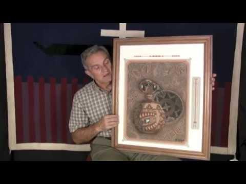 Navajo Pottery, Bear And Basket Sandpainting By Eugene B. Joe (#08)