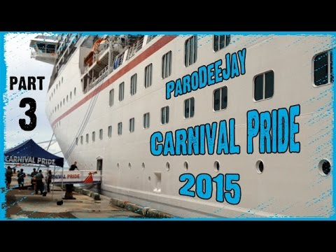 Carnival Pride Cruise Vlog 2015 - Day 2 & 3 - Two Full Days At Sea! - ParoDeeJay