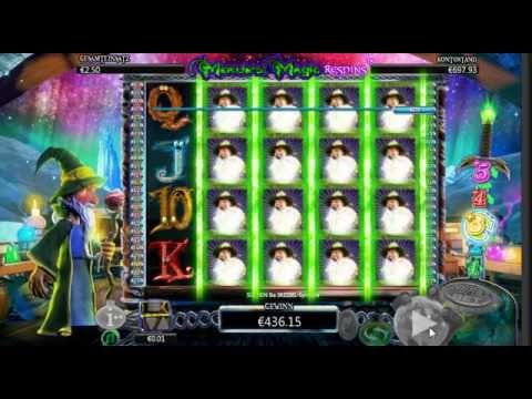 Video Merlin's millions slot machine