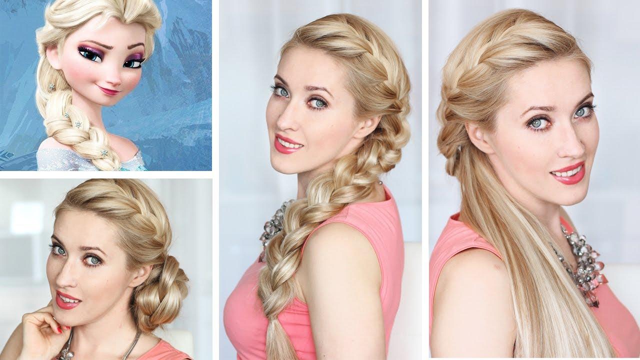 frozen elsa braid hairstyle