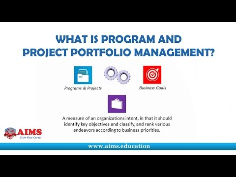 What is Program Management and Project Portfolio Management? | AIMS Lecture