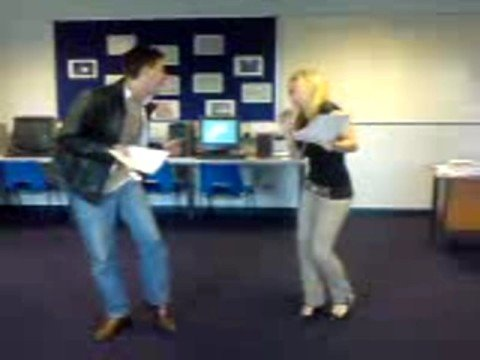 abby williams alex walker singing practice for panto