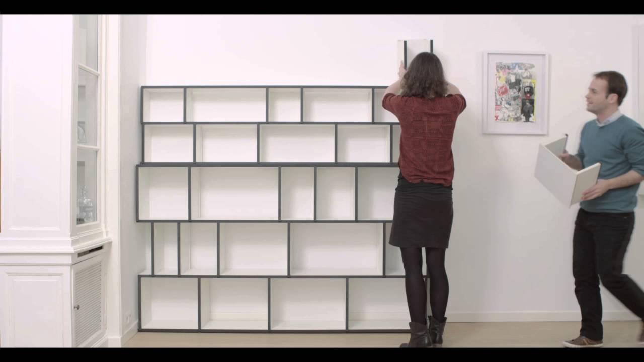 Biblioth que design sur mesure made in belgium youtube for Bibliotheque sur mesure design