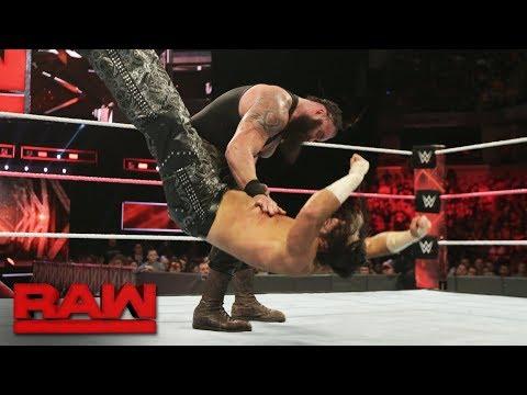 Matt Hardy vs. Braun Strowman: Raw, Oct. 9, 2017